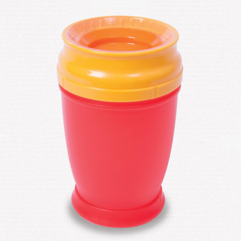 360 beaker cup red